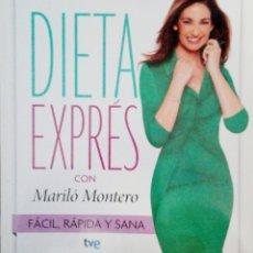 Libros: DIETA ESPRESS CON MARILO MONTERO. Lote 178995485