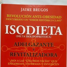 Libros: ISODIETA DE JAIME BRUGOS. Lote 198233191
