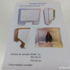 Libros: PANTALLA PROTECTORA SOBREMESA. VENTANA PET TRANSPARENTE DE 250.MEDIDAS PANTALLA: 80X80CM.. Lote 202691480