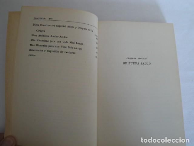Libros: Véase joven y viva más. Autor: Gayelord Hauser. 17ª edición Abril 1970. Como nuevo. - Foto 4 - 208042957