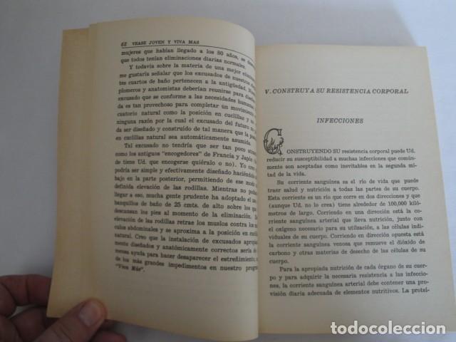 Libros: Véase joven y viva más. Autor: Gayelord Hauser. 17ª edición Abril 1970. Como nuevo. - Foto 5 - 208042957
