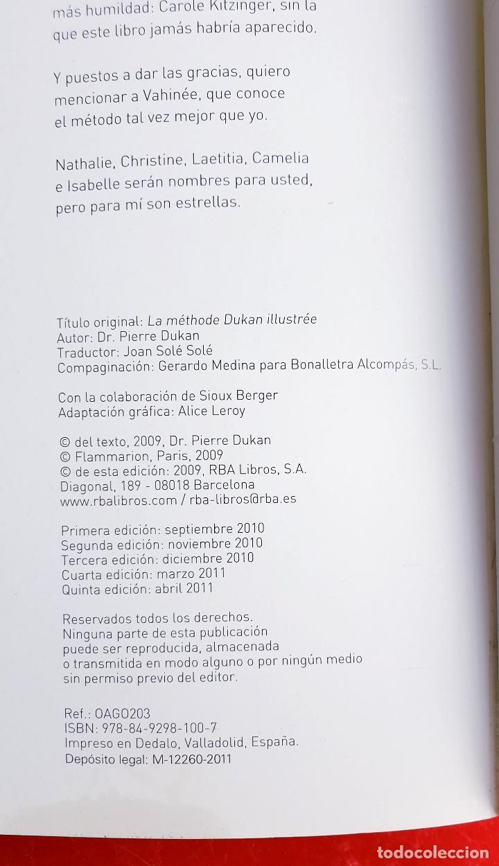 Libros: LIBRO-DIETA-EL METODO DUKAN-ILUSTRADO-PERFECTO ESTADO-VER FOTOS - Foto 6 - 212951233
