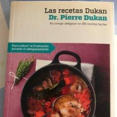 Libros: LAS RECETAS DE DUKAN DR. PIERRE DUKAN RBA. Lote 217490116