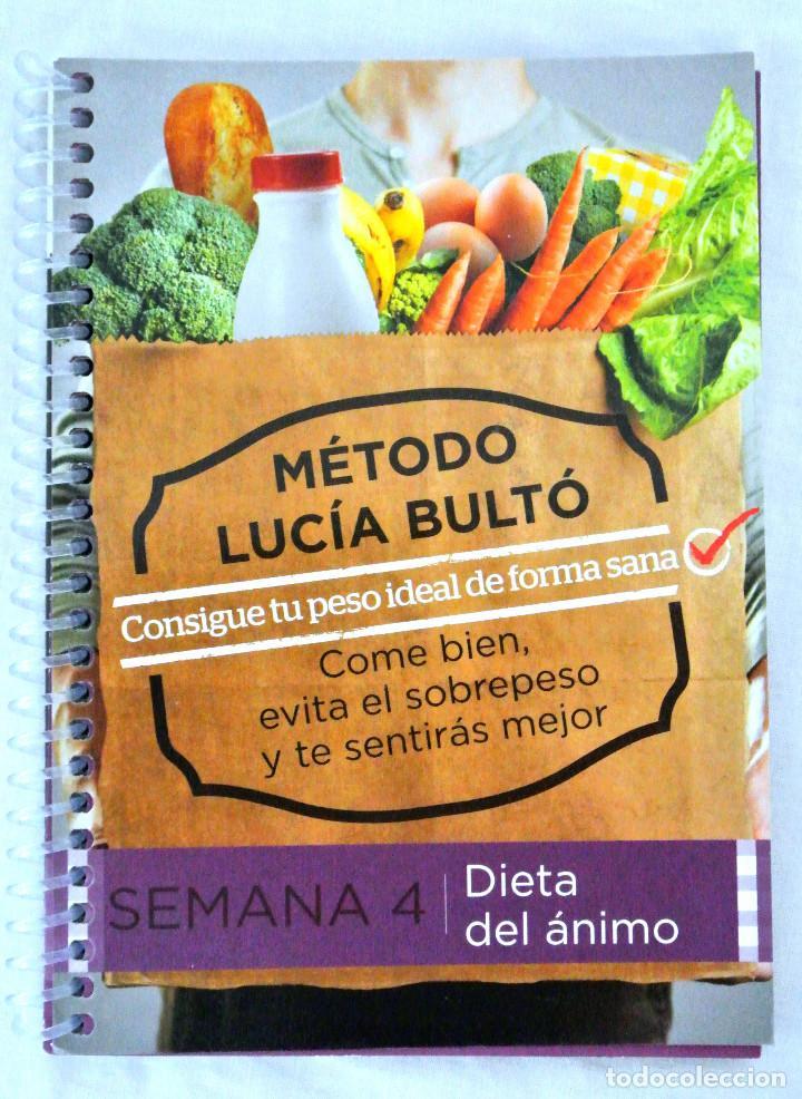 LIBRO MÉTODO LUCÍA BULTÓ, SEMANA 4: DIETA DEL ANIMO, QPRINT, 2014, NUEVO, ISBN 978-84-616-8854-8 (Libros Nuevos - Ocio - Salud y Dietas)