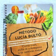 Libros: LIBRO MÉTODO LUCÍA BULTÓ, SEMANA 4: DIETA DEL ANIMO, QPRINT, 2014, NUEVO, ISBN 978-84-616-8854-8. Lote 221799498