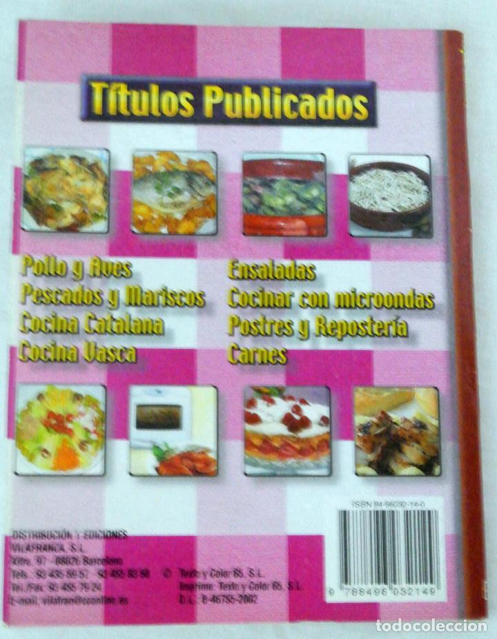 Libros: LIBRO POSTRES Y REPOSTERÍA, COCINA FÁCIL, VILAFRANCA, 2002, ISBN 84-96032-14-0 - Foto 2 - 221804173