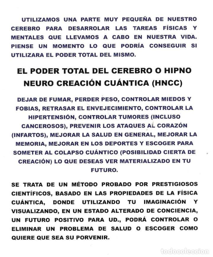 Libros: EL PODEER TOTAL DEL CEREBRO, HIPNO NEURO CREACIÓN CUÁNTICA - Foto 2 - 223666075
