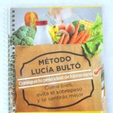 Libros: LIBRO MÉTODO LUCÍA BULTÓ, SEMANA 1: DETOX, QPRINT, 2014, NUEVO, ISBN 978-84-616-8785-5. Lote 228092955