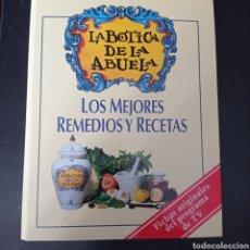 Libros: LA BOTICA DE LA ABUELA ,LOS MEJORES REMEDIOS Y RECETAS , ENVIO GRATIS. Lote 261606985