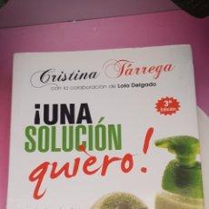 Libros: LIBRO DE CRISTINA TARREGA. Lote 271989673