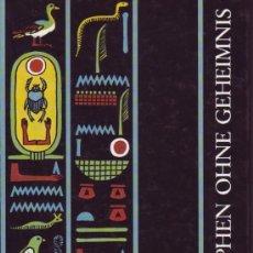 Libros de segunda mano: HIEROGLYPHEN OHNE GEHEIMNIS. KARL-THEODOR ZAUZICH.. Lote 27412106