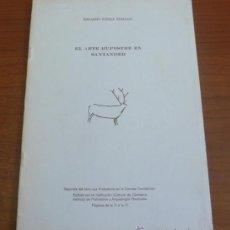 Libros de segunda mano: EL ARTE RUPESTRE EN SANTANDER. RIPOLL PERELLO, EDUARDO. 1976-SEPARATA. . Lote 32920694