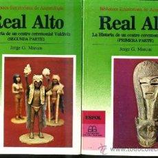 Libros de segunda mano: JORGE MARCOS : REAL ALTO, HISTORIA DE UN CENTRO CEREMONIAL VALDIVIA - DOS TOMOS (1988). Lote 33484335