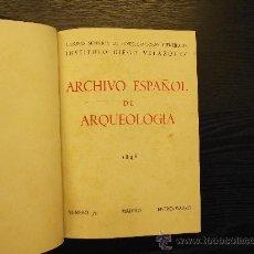 Libros de segunda mano: ARCHIVO ESPAÑOL DE ARQUEOLOGIA. Lote 172852984