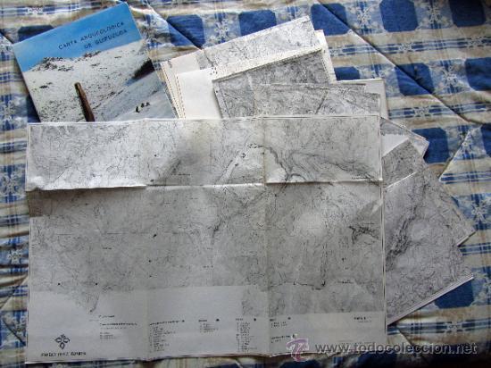 CARTA ARQUEOLOGICA DE GUIPUZCOA + CARPETA CON MAPAS. (Libros de Segunda Mano - Ciencias, Manuales y Oficios - Arqueología)