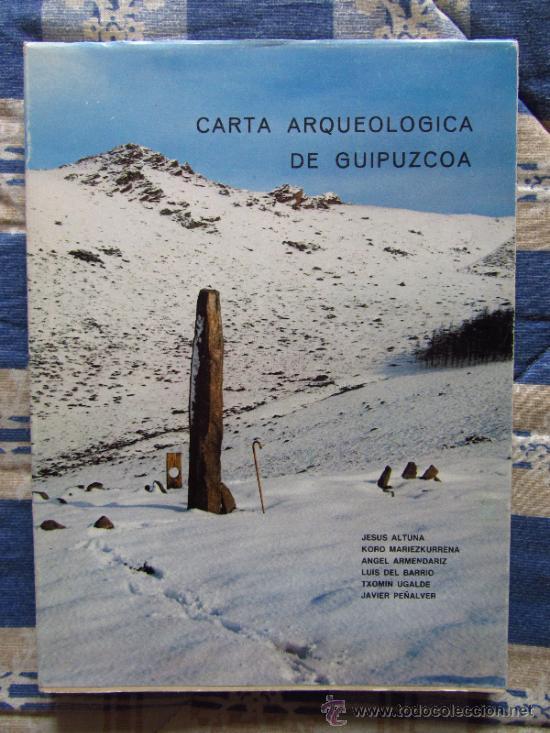 Libros de segunda mano: Carta arqueologica de Guipuzcoa + Carpeta con mapas. - Foto 4 - 37491105