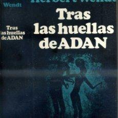 Libros de segunda mano: WENDT : TRAS LAS HUELLAS DE ADÁN (NOGUER, 1973) EL ORIGEN DEL HOMBRE. Lote 38860933