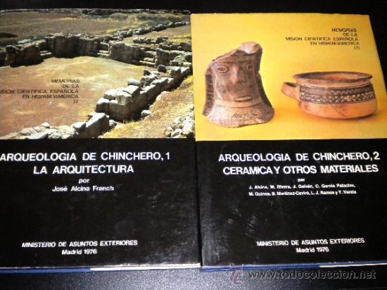 ARQUEOLOGIA DE CHINCHERO 1 Y 2 ARQUITECTURA Y CERAMICA / JOSE ALCINA FRANCH, RIVERA, GALVAN, RAMOS.. (Libros de Segunda Mano - Ciencias, Manuales y Oficios - Arqueología)