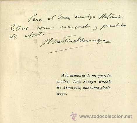 Libros de segunda mano: MARTÍN ALMAGRO : INTRODUCCIÓNA A LA ARQUEOLOGÍA (APOLO, 1941) - CON AUTÓGRAFO DEL ARQUEÓLOGO - Foto 2 - 42828684