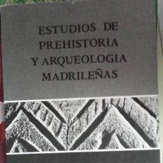 Libros de segunda mano: ESTUDIOS DE PREHISTORIA Y ARQUEOLOGÍA MADRILEÑAS, 1989. Lote 45161603