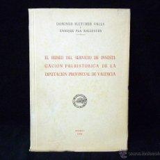 Libros de segunda mano: FLETCHER VALLS. EL MUSEO DEL SERVICIO DE INVESTIGACIÓN PREHISTORICA. VALENCIA. Lote 45700431