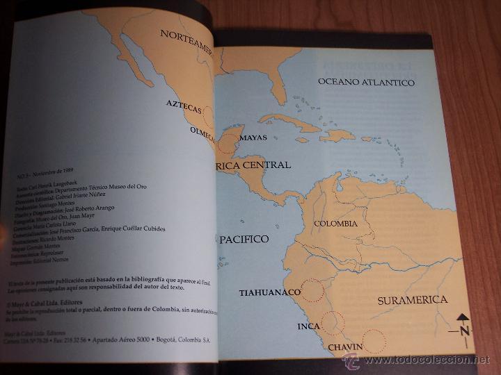 Libros de segunda mano: ORO PRECOLOMBIANO (Nº 5 NOVIEMBRE DE 1989) MAYR & CABAL LTDA. EDITORES - Foto 2 - 46757067