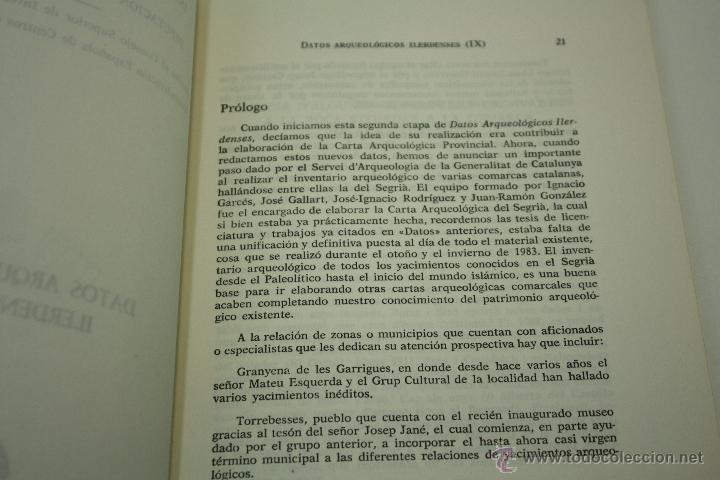 Libros de segunda mano: DATOS ARQUEOLÓGICOS ILERDENSES (IX) LERIDA - Foto 5 - 47557362