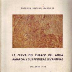 Libros de segunda mano: LA CUEVA DEL CHARCO DEL AGUA AMARGA Y SUS PINTURAS LEVANTINAS. ANEJO DE CAESARAUGUSTA VII MONOGR.. Lote 49009701