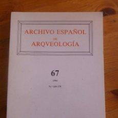 Libros de segunda mano: ARCHIVO ESPAÑOL DE ARQUEOLOGIA. CSIC 1994 Nº 169-170 PAG. Lote 49745218