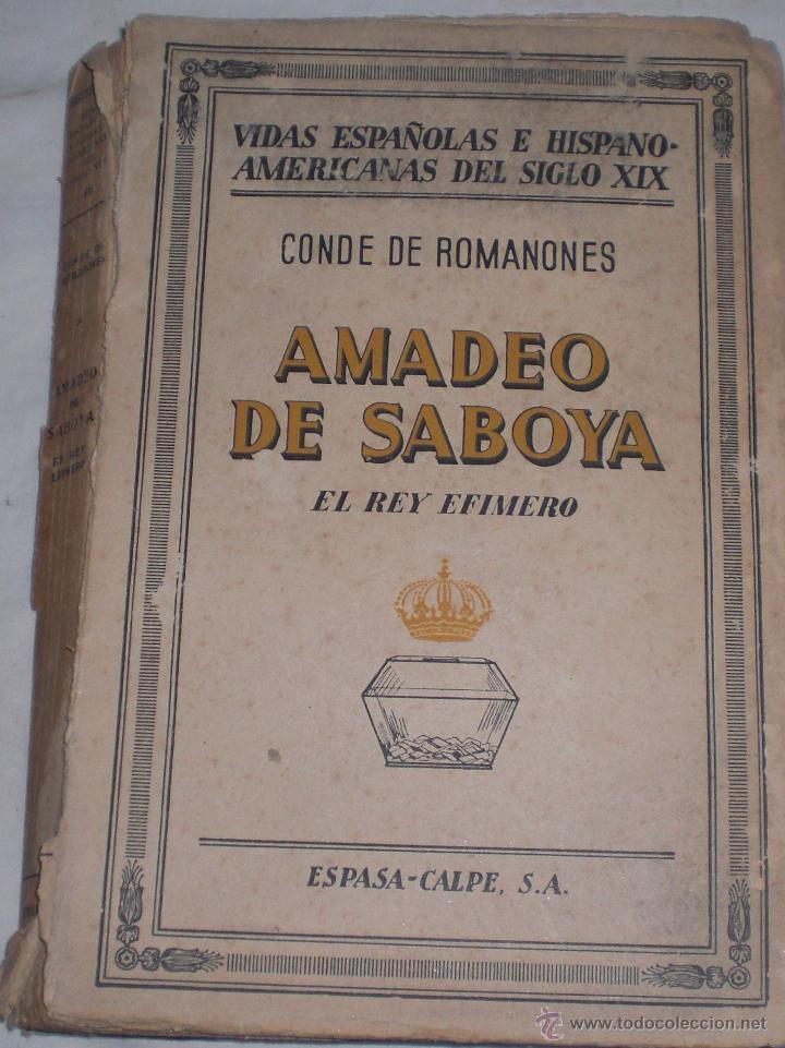 AMADEO DE SABOYA 1940 (Libros de Segunda Mano - Ciencias, Manuales y Oficios - Arqueología)