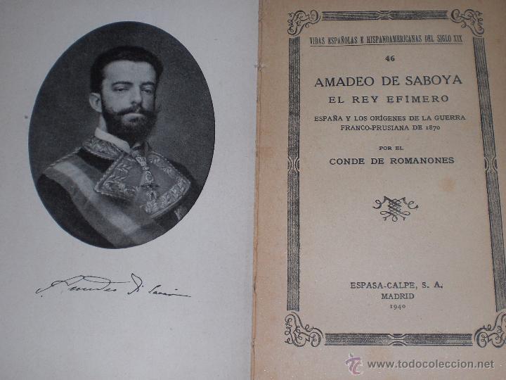 Libros de segunda mano: Amadeo de Saboya 1940 - Foto 2 - 51215540