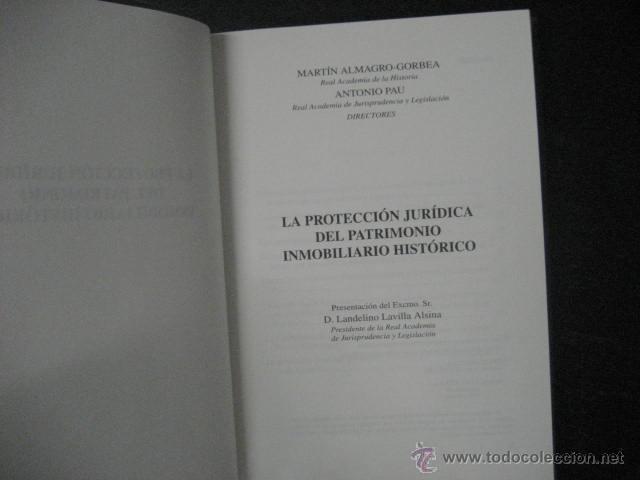 Libros de segunda mano: la proteccion juridica del patrimonio inmobiliario historico, almagro gorbea ref arqueologia - Foto 5 - 51369441