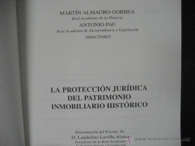 Libros de segunda mano: la proteccion juridica del patrimonio inmobiliario historico, almagro gorbea ref arqueologia - Foto 6 - 51369441
