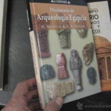 diccionario de ARQUEOLOGIA EGIPCIA , BRODRICK , libro nuevo ref arqueologia