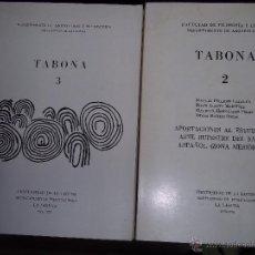 Libros de segunda mano: TABONA 1, 2 Y 3 APORTACIONES AL ESTUDIO DEL ARTE RUPESTRE DEL SAHARA OCCIDENTAL. TENERIFE. CANARIAS. Lote 52419286