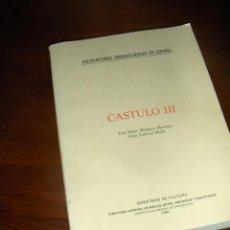 Libros de segunda mano: CASTULO III, JOSE MARIA BLAZQUEZ Y JESUS VALIENTE. EXCAVACIONES ARQUEOLOGICAS, 1981.. Lote 53110559