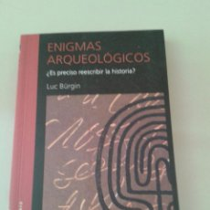 Libros de segunda mano: ENIGMAS ARQUEOLÓGICOS. LUC BÜRGIN. Lote 55095286