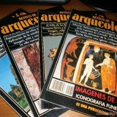 Libros de segunda mano: LOTE 4 REVISTAS DE ARQUEOLOGÍA Nº 174,175,176,182 - AÑOS XVI-XVII - 1995 1996. Lote 51797475