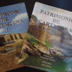 Libros de segunda mano: PATRIMONIO DE CARTAGENA EN 2 TOMOS. FOTOTOGRAFIAS DE JOSÉ RUBIO. ARTE-HISTORIA -ARQUEOLOGÍA. Lote 56610763