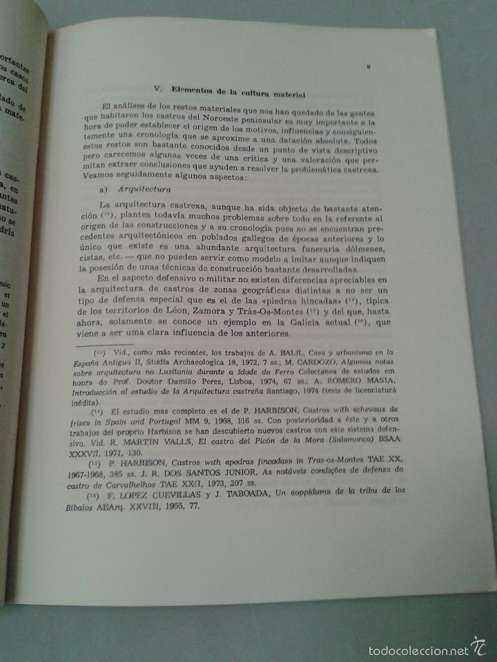 Libros de segunda mano: Panorama de la Cultura Castrexa en el Noroeste de la Península Ibérica. Fernando Acuña Castroviejo. - Foto 3 - 58017873