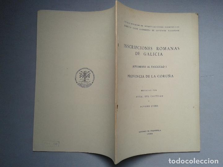 Libros de segunda mano: Inscripciones Romanas de Galicia. Coruña. Edita Ángel del Castillo y Álvaro D`ors. Año 1960. - Foto 5 - 67030362