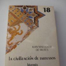 Libros de segunda mano: LA CIVILIZACIÓN DE TARTESSOS. JUAN MALUQUER DE MOTES. BIBLIOTECA DE LA CULTURA ANDALUZA Nº 18. Lote 132538949