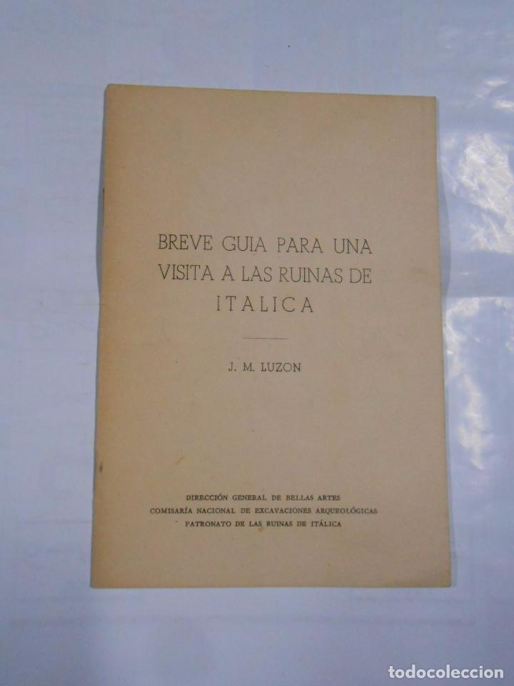 BREVE GUIA PARA UNA VISITA A LAS RUINAS DE ITALICA. J.M. LUZON. 1970. SEVILLA. TDKP9 (Libros de Segunda Mano - Ciencias, Manuales y Oficios - Arqueología)