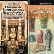 DICCIONARIO DE ARQUEOLOGIA EGIPCIA-HISTORIA DE LA ARQUEOLOGIA DE LOS ANTICUARIOS,CARTON,2 TOMOS