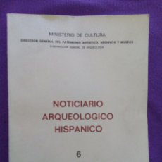 Libros de segunda mano: NOTICIARIO ARQUEOLÓGICO HISPÁNICO. 6. ILUSTRACIONES, PLANOS DESPLEGABLES.... Lote 76227363