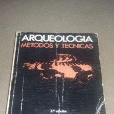 Libros de segunda mano: ARQUEOLOGÍA METODOS Y TÉCNICAS-RAFAEL RAMOS FERNÁNDEZ ( 2ª EDICION) REF. 110. Lote 82298368