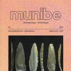 Libros de segunda mano: MUNIBE - ANTROPOLOGÍA/ARQUEOLOGÍA - SAN SEBASTIÁN - VOLUMEN 63. Lote 130795777