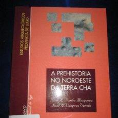Libros de segunda mano: LIBRO-A PREHISTORIA NO NOROESTE DA TERRA CHÁ-MUSEO PRVINCIAL DE LUGO-ESTUDIOS ARQUEOLÓXICOS PROV.. Lote 85468552