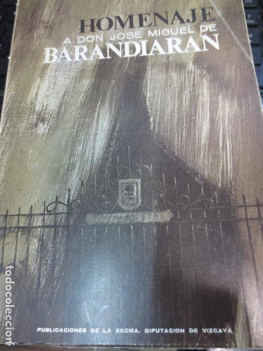 HOMENAJE A DON JOSÉ MIGUEL DE BARANDIARAN TOMO 1 BILBAO 1964 (Libros de Segunda Mano - Ciencias, Manuales y Oficios - Arqueología)