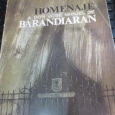 Libros de segunda mano: HOMENAJE A DON JOSÉ MIGUEL DE BARANDIARAN TOMO 1 BILBAO 1964. Lote 85496320